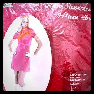 Retro stewardess costume size large 12-14